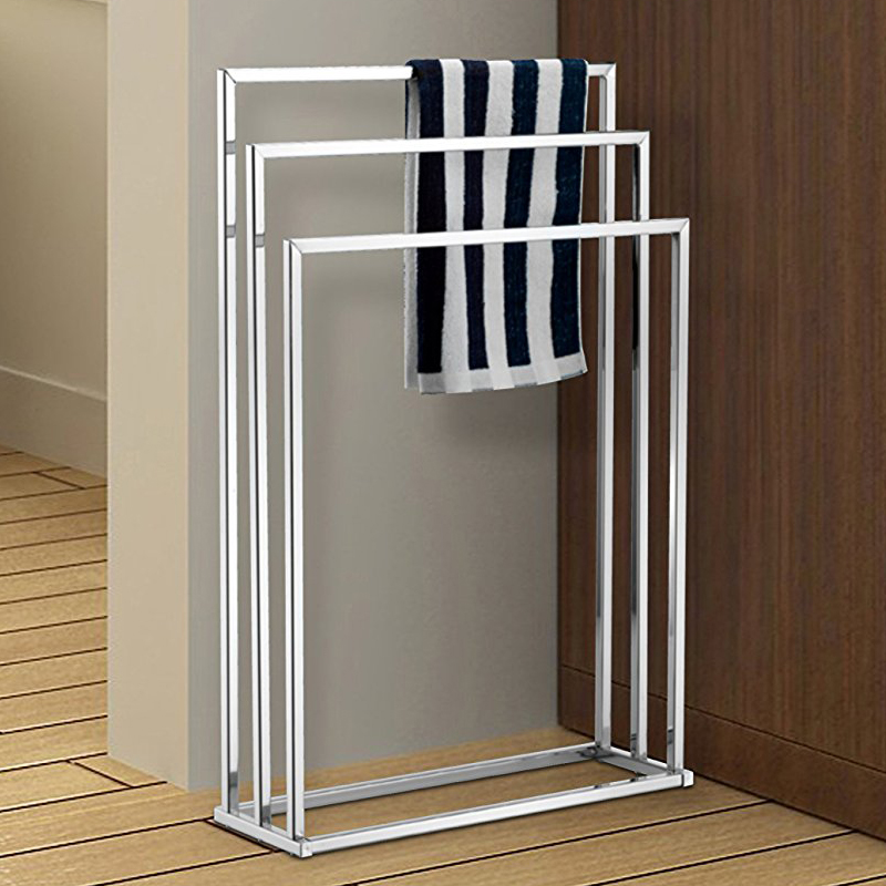 3 Bars bathroom hotel floor free standing towel racks