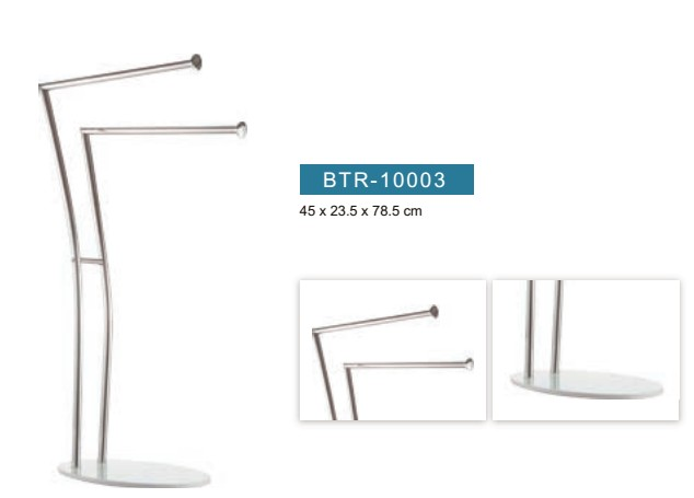 Design floor standing 2 tier metal towel rack